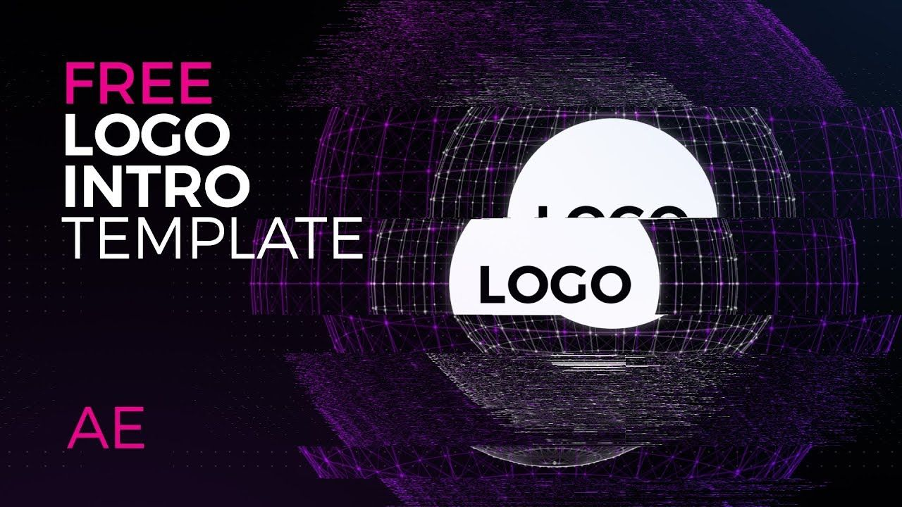 Tech Glitch Logo Reveal Intro Free After Effects Template With Music