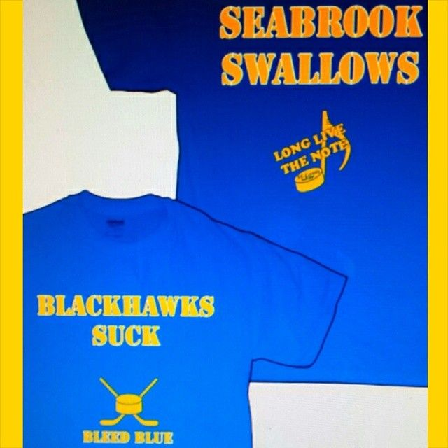 Alright Blues fans as disgusted as I was too see the bitch hit from  Seabrook on Backes and seeing the hawks fans whack t-shirt