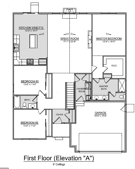 Edgewood ranch floor plan homes for sale ohio for for Ranch home builders ohio
