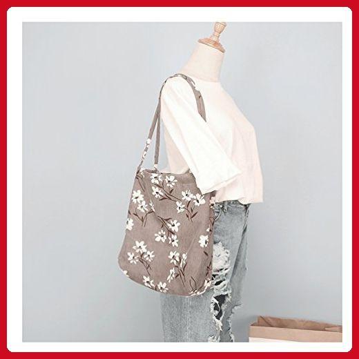 3a8b81e4fe8 Yiuswoy Corduroy Tote Bag College Shoulder Bag Handbag for Women Girls -  Grey Daffodil - Totes ( Amazon Partner-Link)
