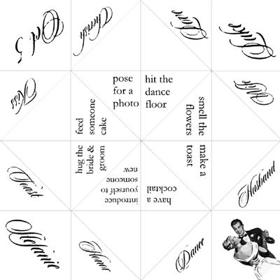 I Really Like The Wedding Cootie Catcher Idea For Each Table