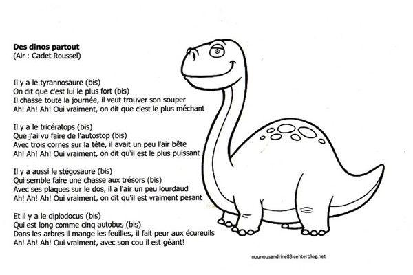 Résultat De Recherche Dimages Pour Comptine Dinosaure Maternelle