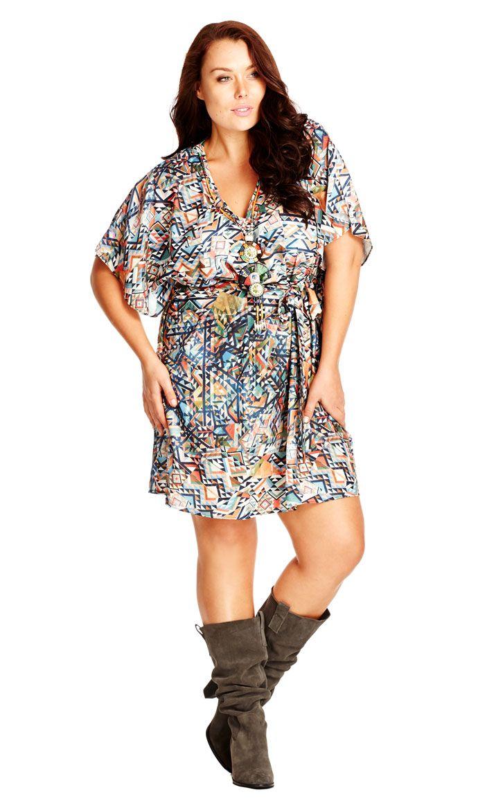 City chic geo aztec tunic womenus plus size fashion city chic
