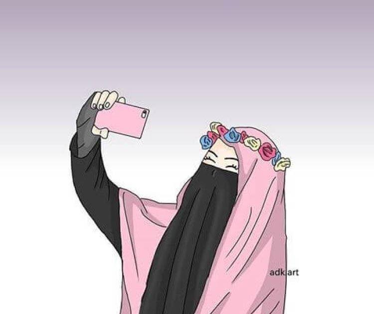 Gambar kartun muslimah comel bercadar terbaru. bercadar kartun muslimah bercadar
