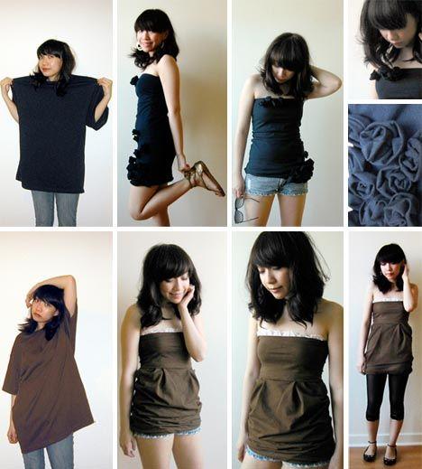 Konverter t-skjorte til kjole eller skjorte