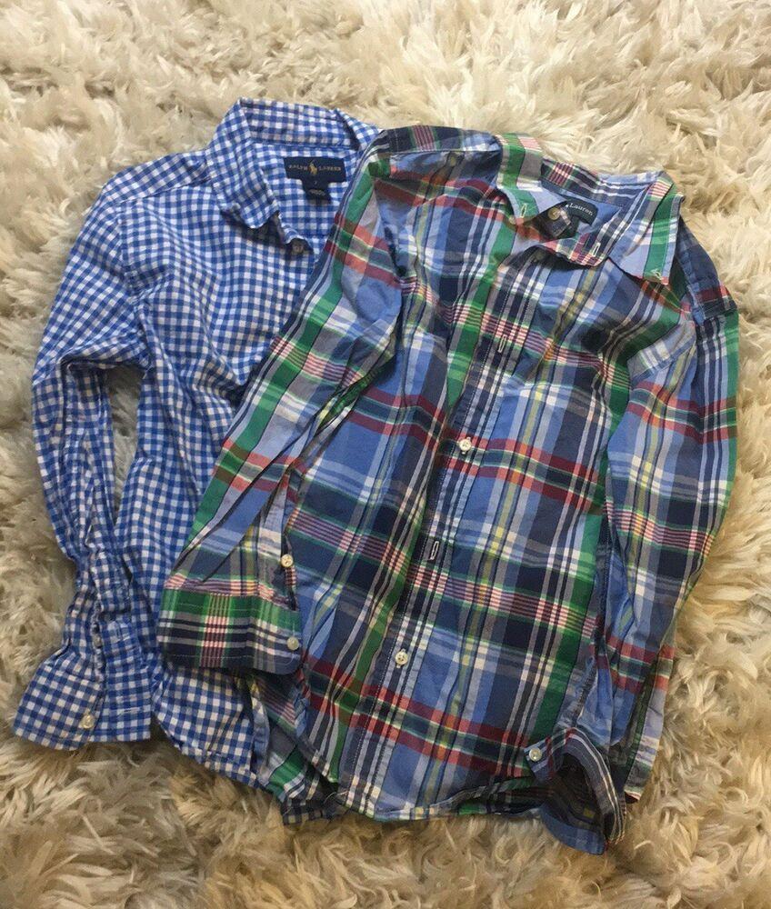 91cf54b98b5 Boys Size 7 Ralph Lauren Button Down Dress Shirt Bundle Excellent Condition   fashion  clothing  shoes  accessories  kidsclothingshoesaccs ...