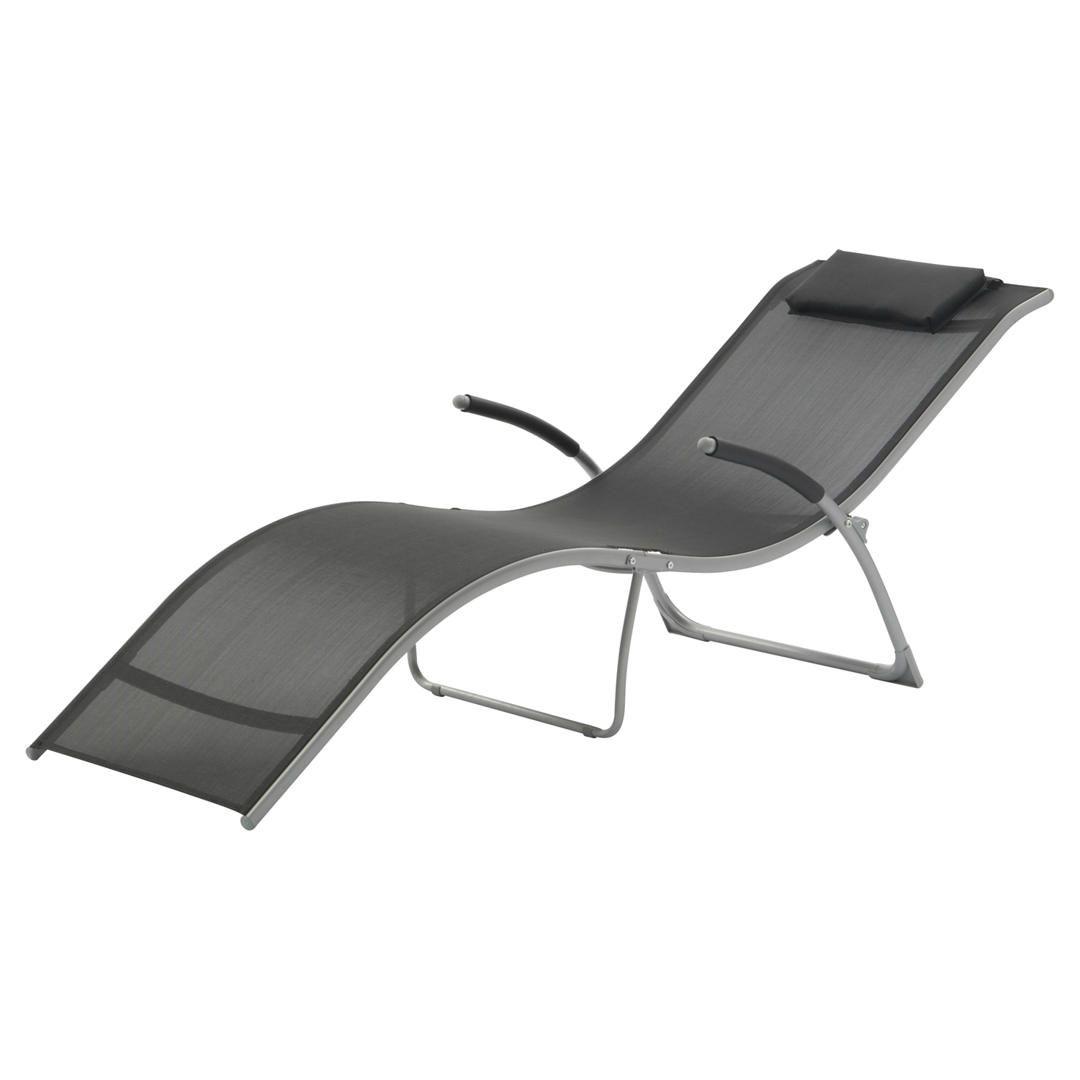 Suntime Monte Carlo Sun Lounger Black Sun Lounger Sun Lounger Chair Lounger