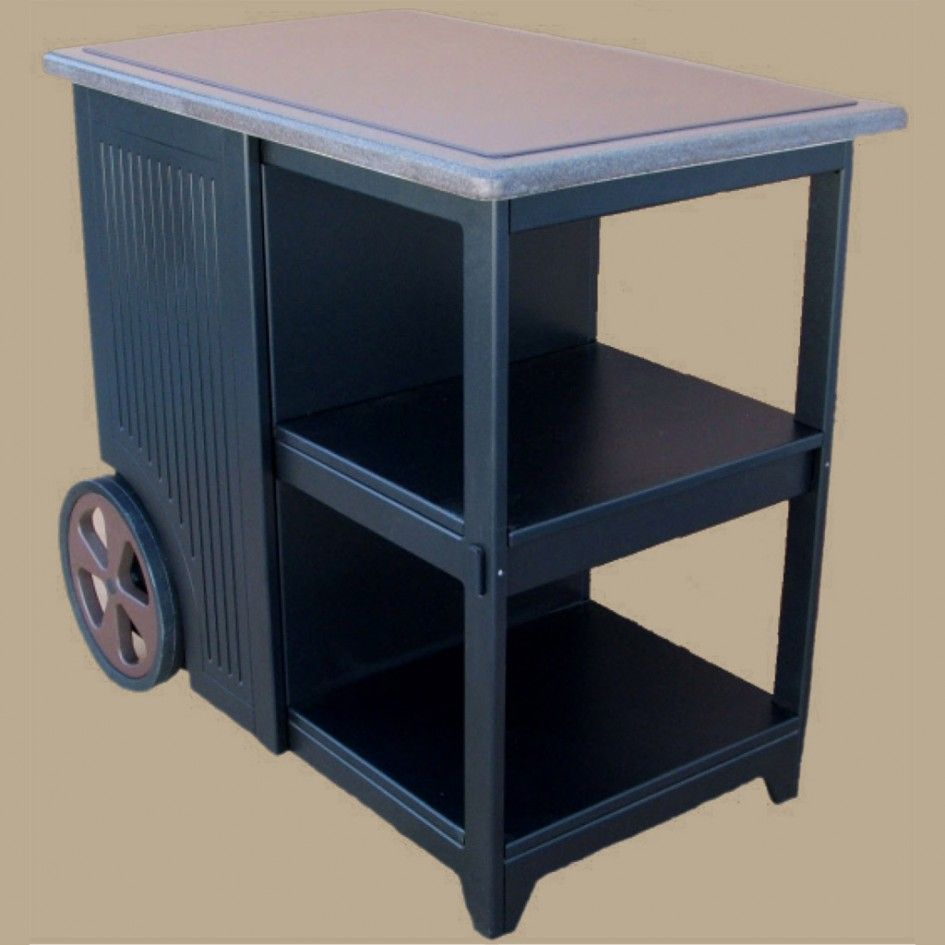 Hypnotic Poly Outdoor Kitchen Cabinets with Small Cart ...