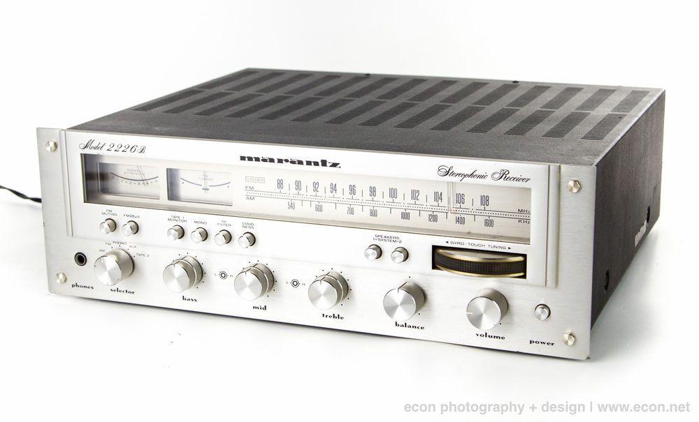 Classic Vintage 1970s MARANTZ 2226B Audiophile AM FM Stereo