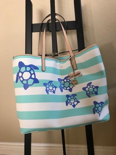 973448d09176 Kate Spade Baby Bag or Beach Tote with Beautiful Sea Turtles. Mint ...