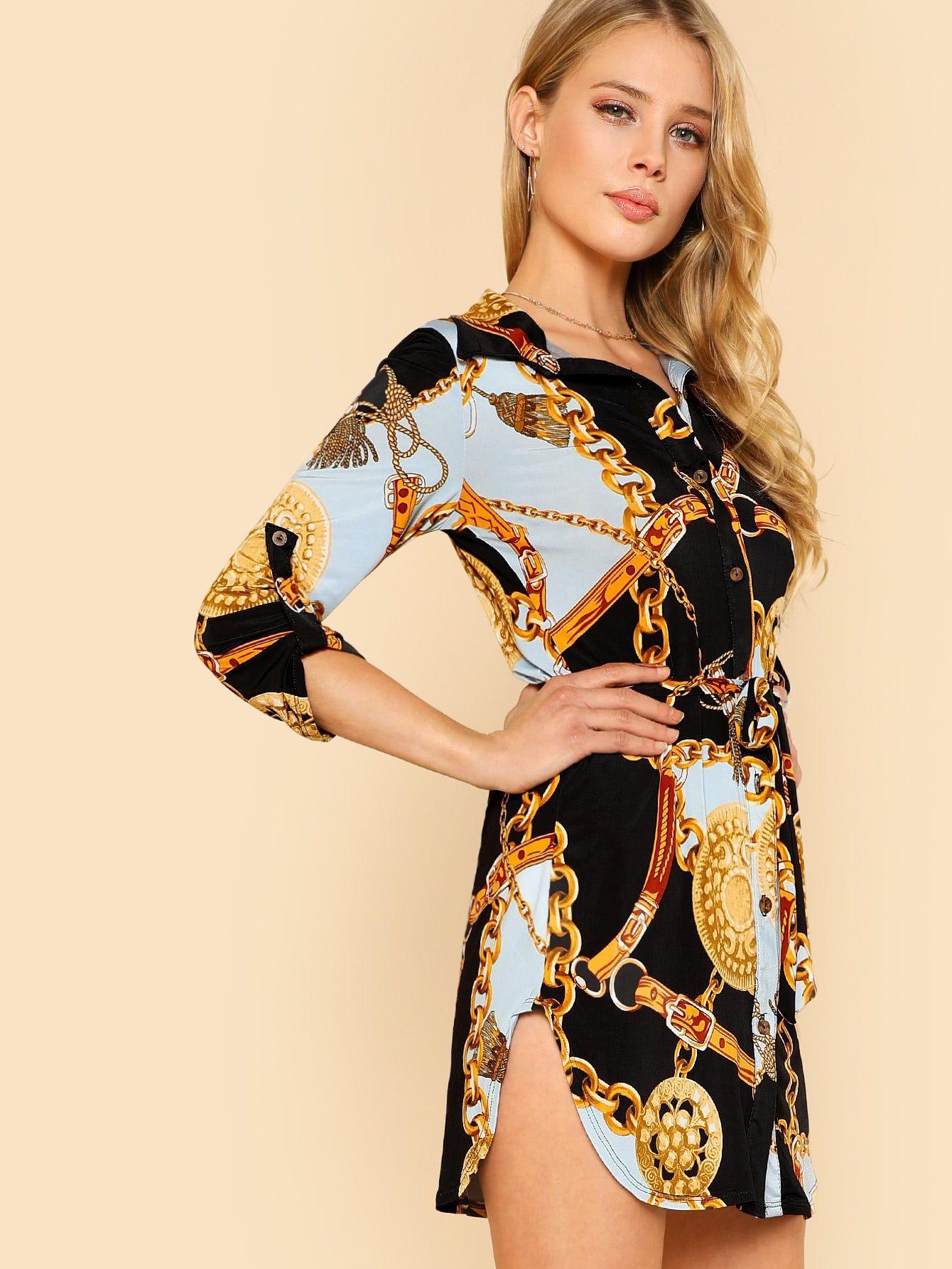 29+ Chain print dress ideas