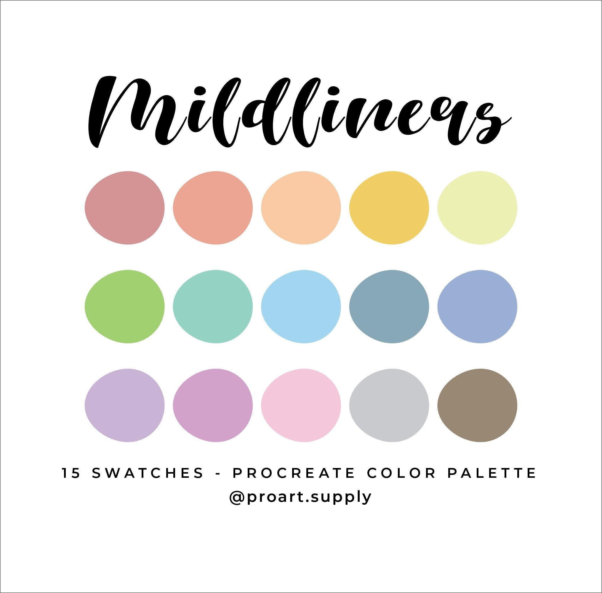 Mildliner Procreate Color Palette Highlighter Colors Red Etsy In 2020 Orange Color Palettes Hex Color Palette Color Palette