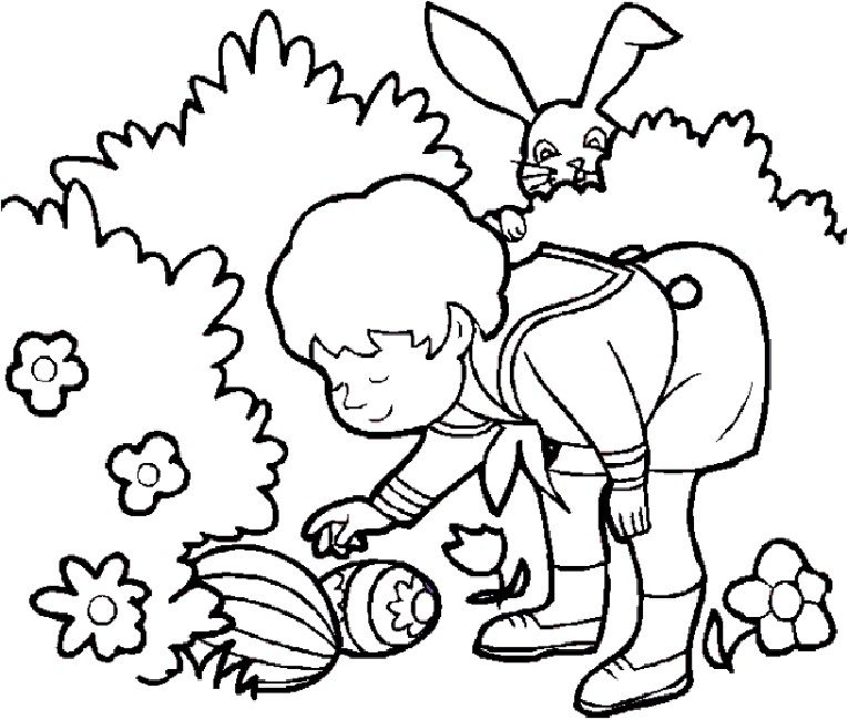 Easter Hunt Coloring Pages Hobby Easter Colouring Easter