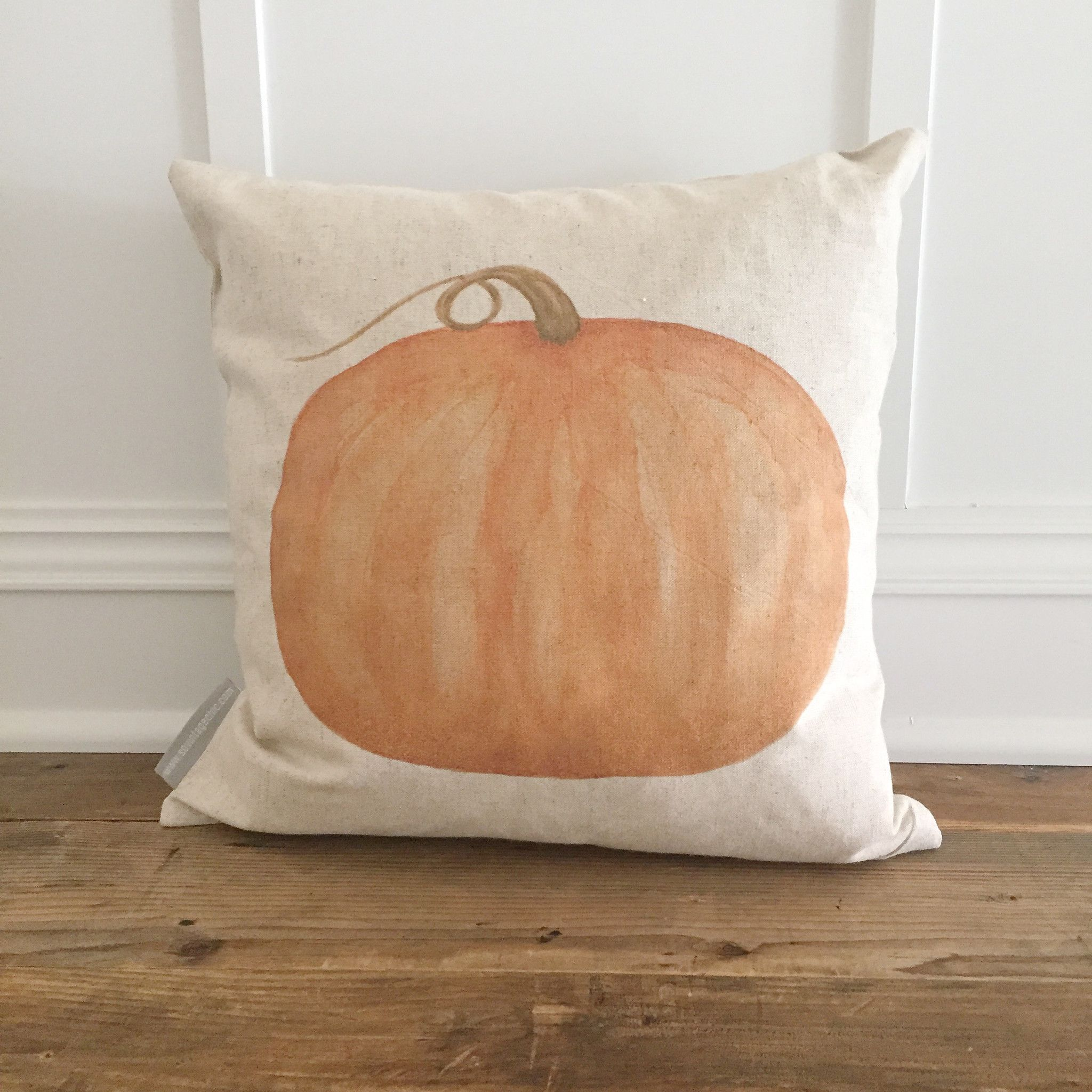 Watercolor Pumpkin Pillow Cover | Watercolors, Pumpkins and ...