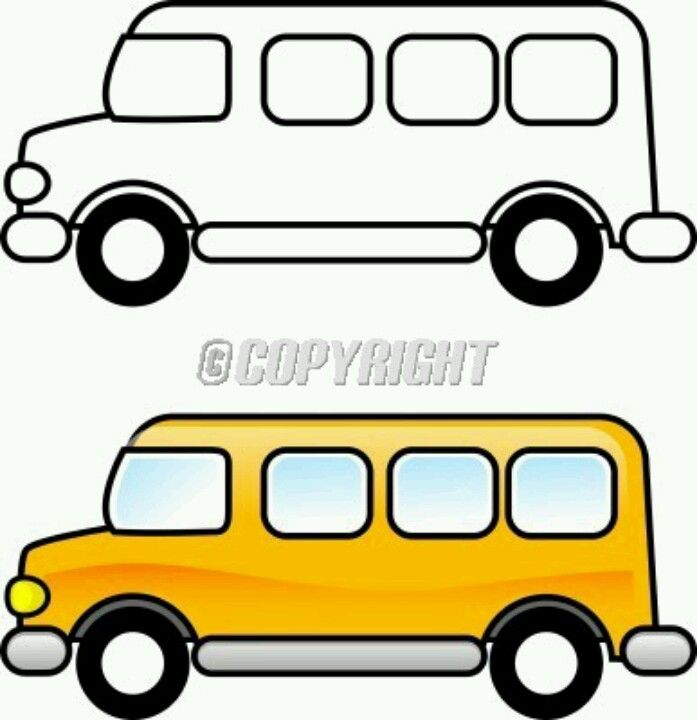 School bus | SCHOOL BUS - Ideas | Pinterest | Números