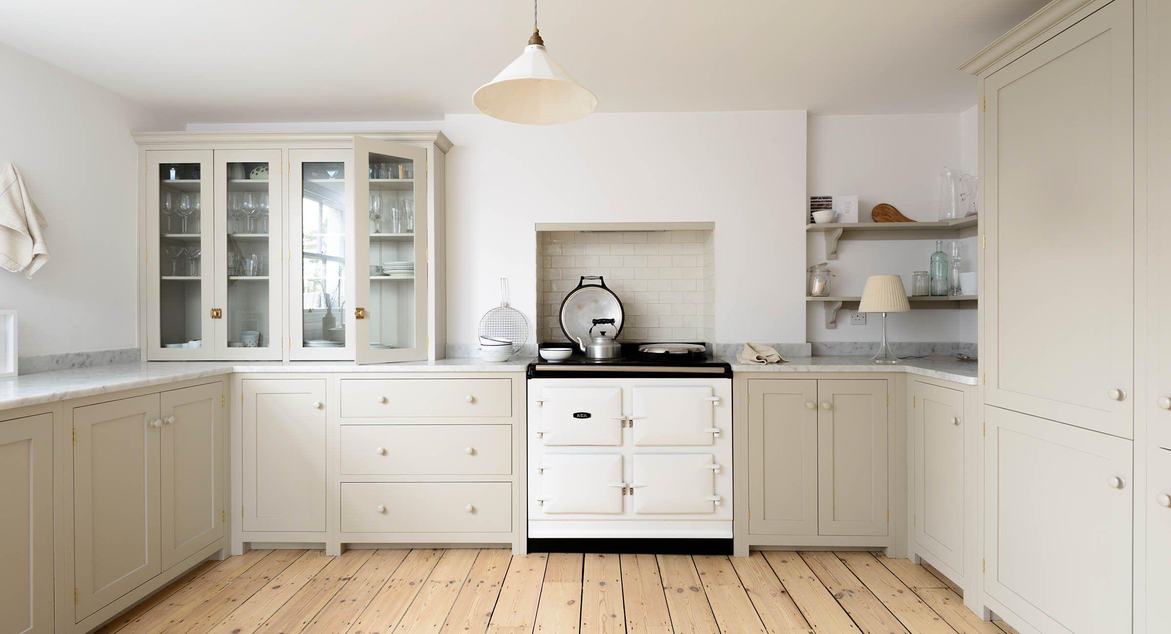 Greige Is The New Beige Kitchen Cabinets Craze Hunker Devol Kitchens Beige Kitchen Cabinets Beige Kitchen