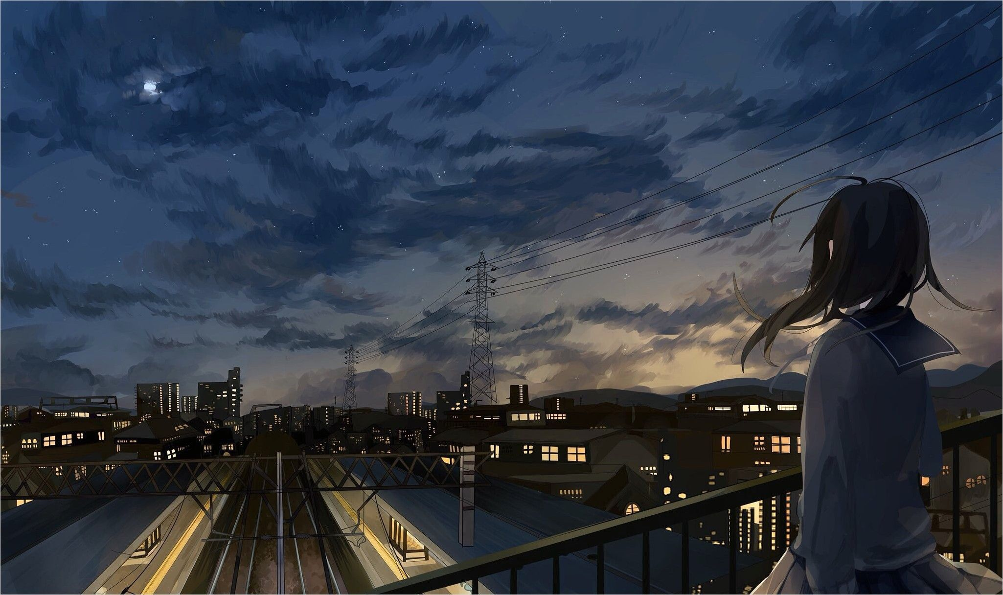 4k Anime City Wallpaper in 2020 Anime city, Anime