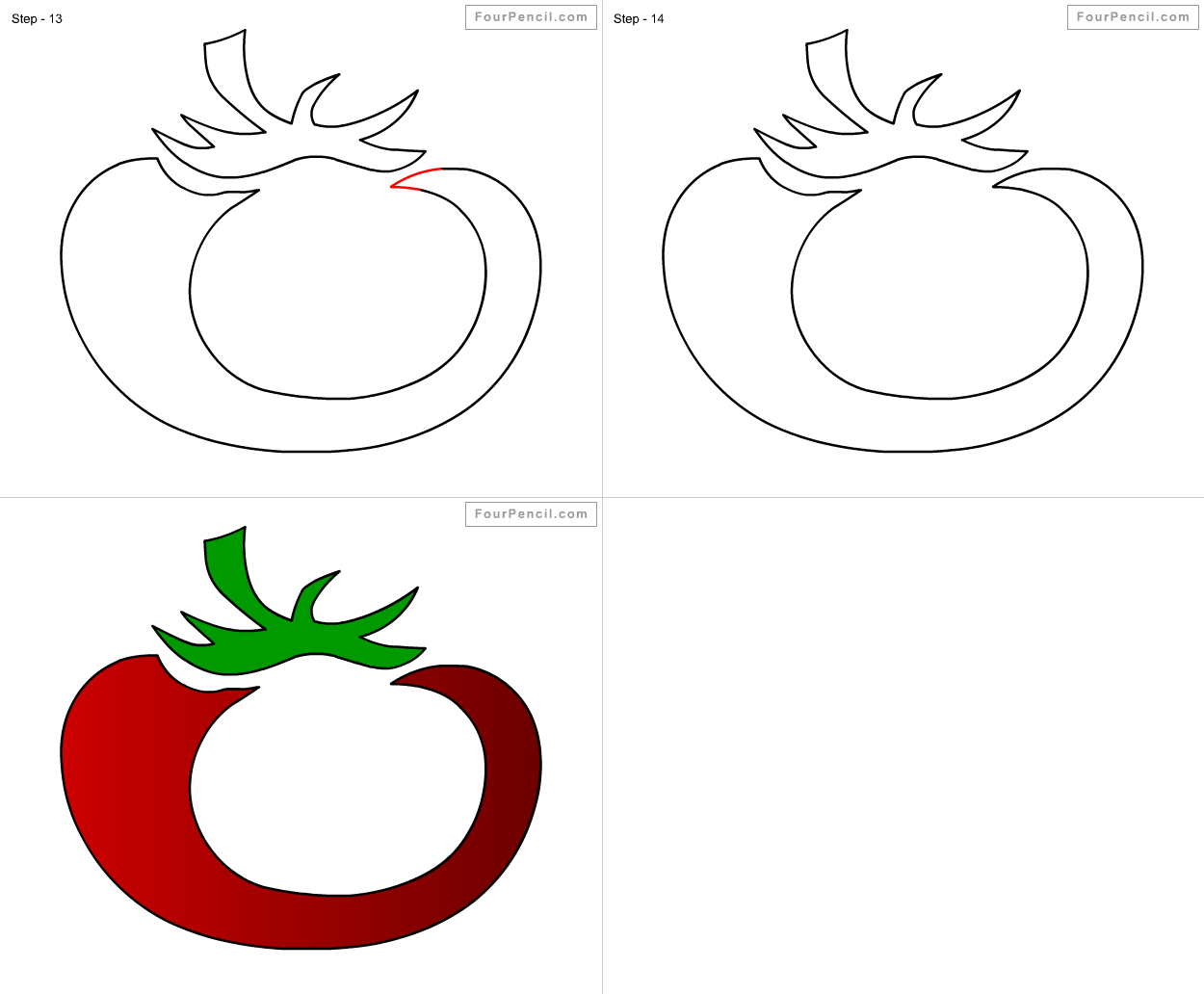 How To Draw Tomato For Kids Step By Step Drawing Tutorial, Draw Tomato For  Kids