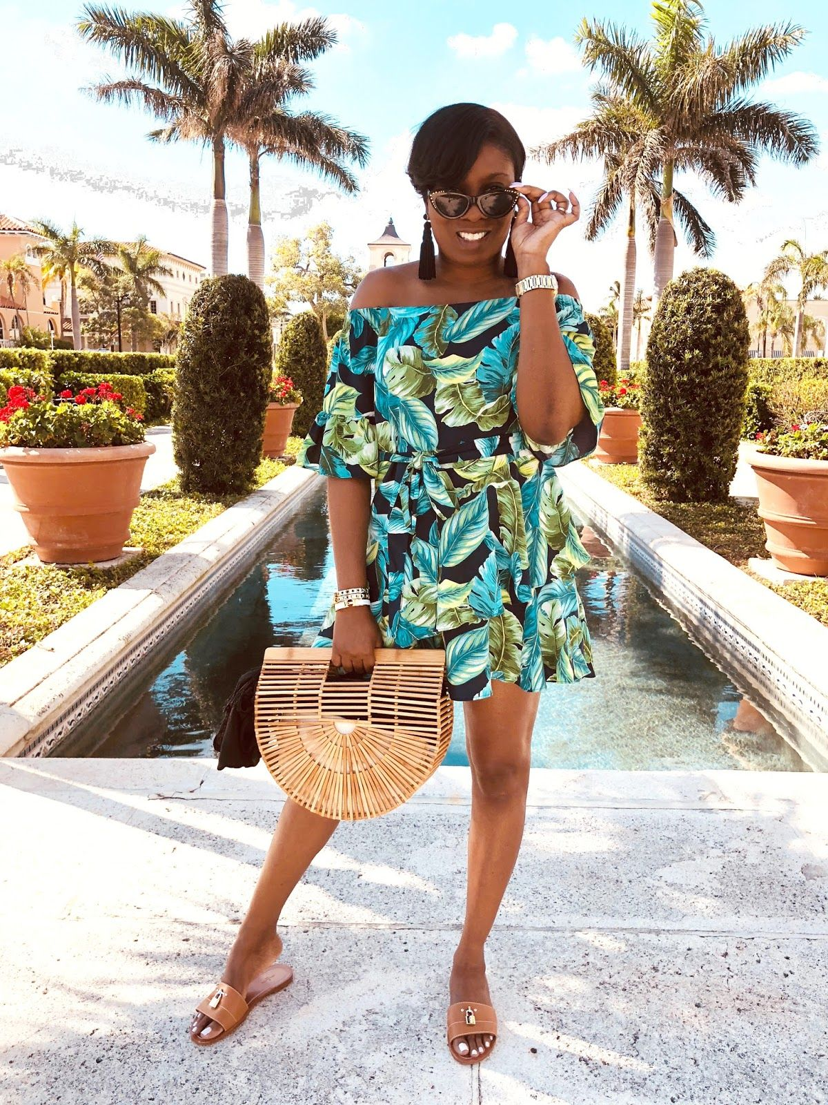 e52e96a3b1 Palm leaf in Palm Beach | TianShanae Beach Day Outfits, Summer Outfits,  Vacation Style