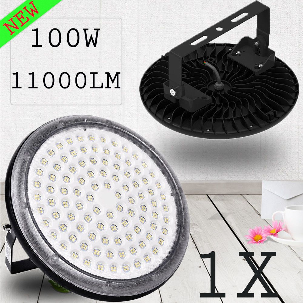 100w ufo led high bay light fixtures outdoor warehouse building ip67 lighting us ebay link
