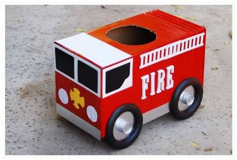 Image Result For Make A Fire Truck Out Of A Cardboard Box Boys