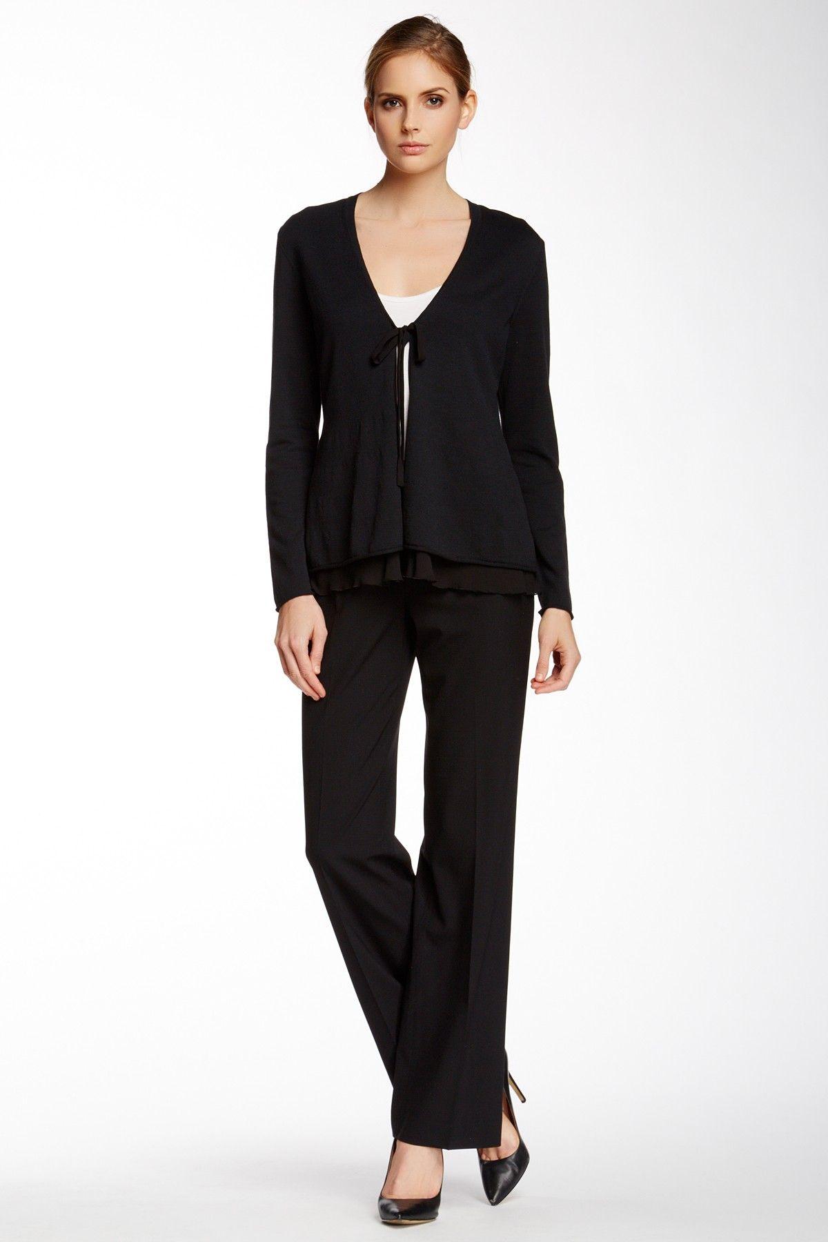 Lafayette 148 New York Classic Wool Blend Pant Suit