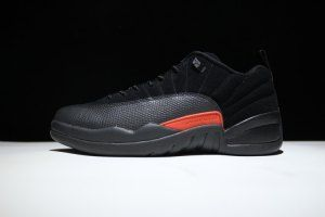 af4c82857e9051 Mens Nike Air Jordan 12 Retro black orange 308317 003 Boy Basketball Shoes