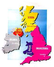 Cartina del Regno Unito.