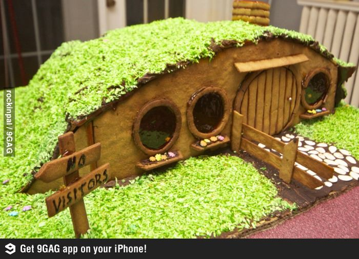 Gingerbread Lord Rings Houses