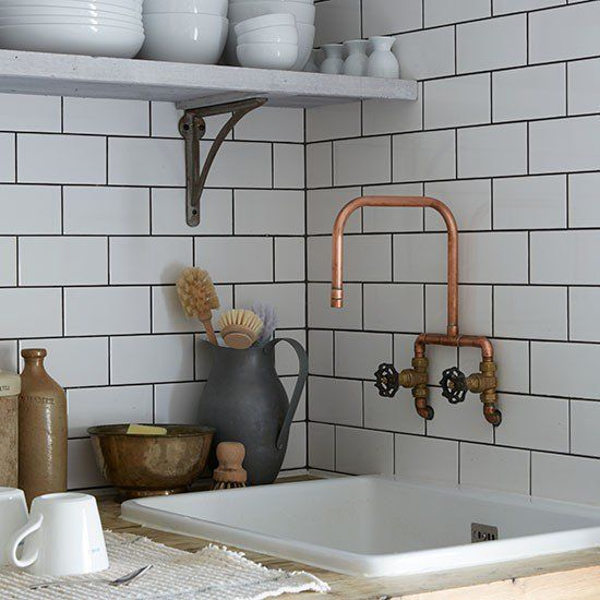 Upcycled Kitchen Tap Copper Taps Industrial Kitchen Style