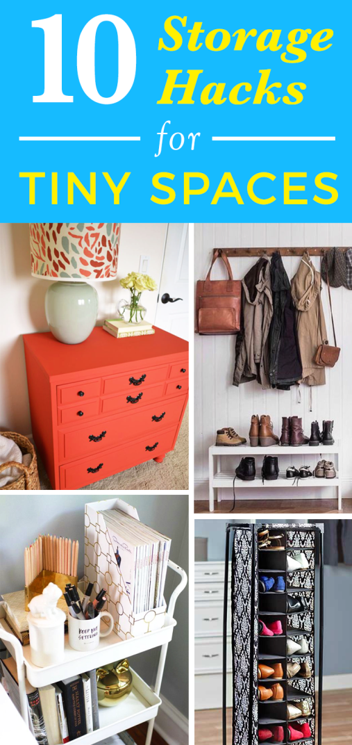 10 Storage Hacks For Tiny Spaces (With images) | Tiny ...