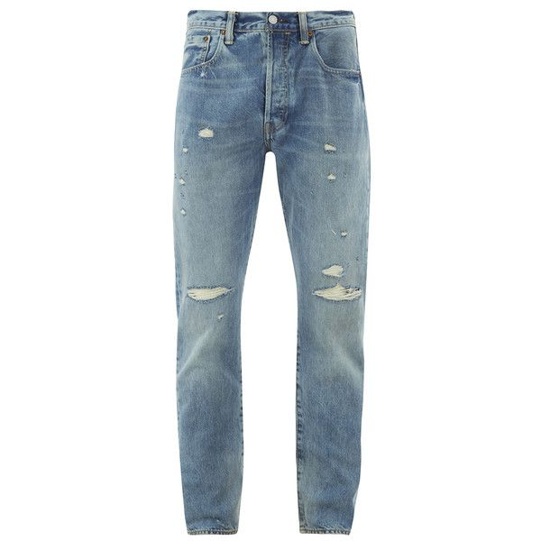 c9cf04f0b6d Levi s Men s 501 Customised   Tapered Jeans - Dirty Dawn (1.878.360 IDR) ❤  liked on Polyvore featuring men s fashion