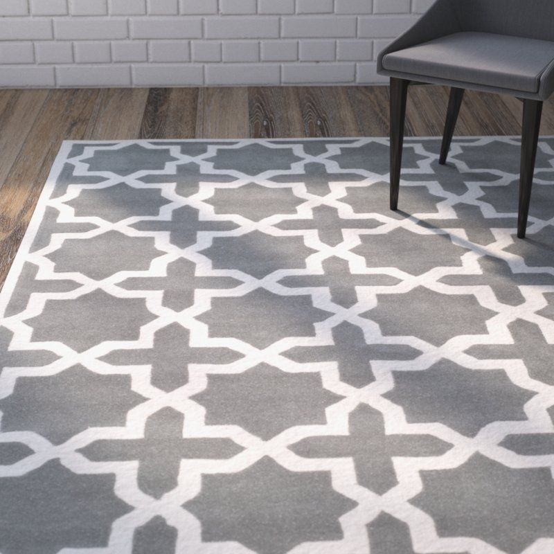 Wilkin Hand-Tufted Wool Dark Gray/Ivory Area Rug#area #dark #grayivory #handtufted #rug #wilkin #wool