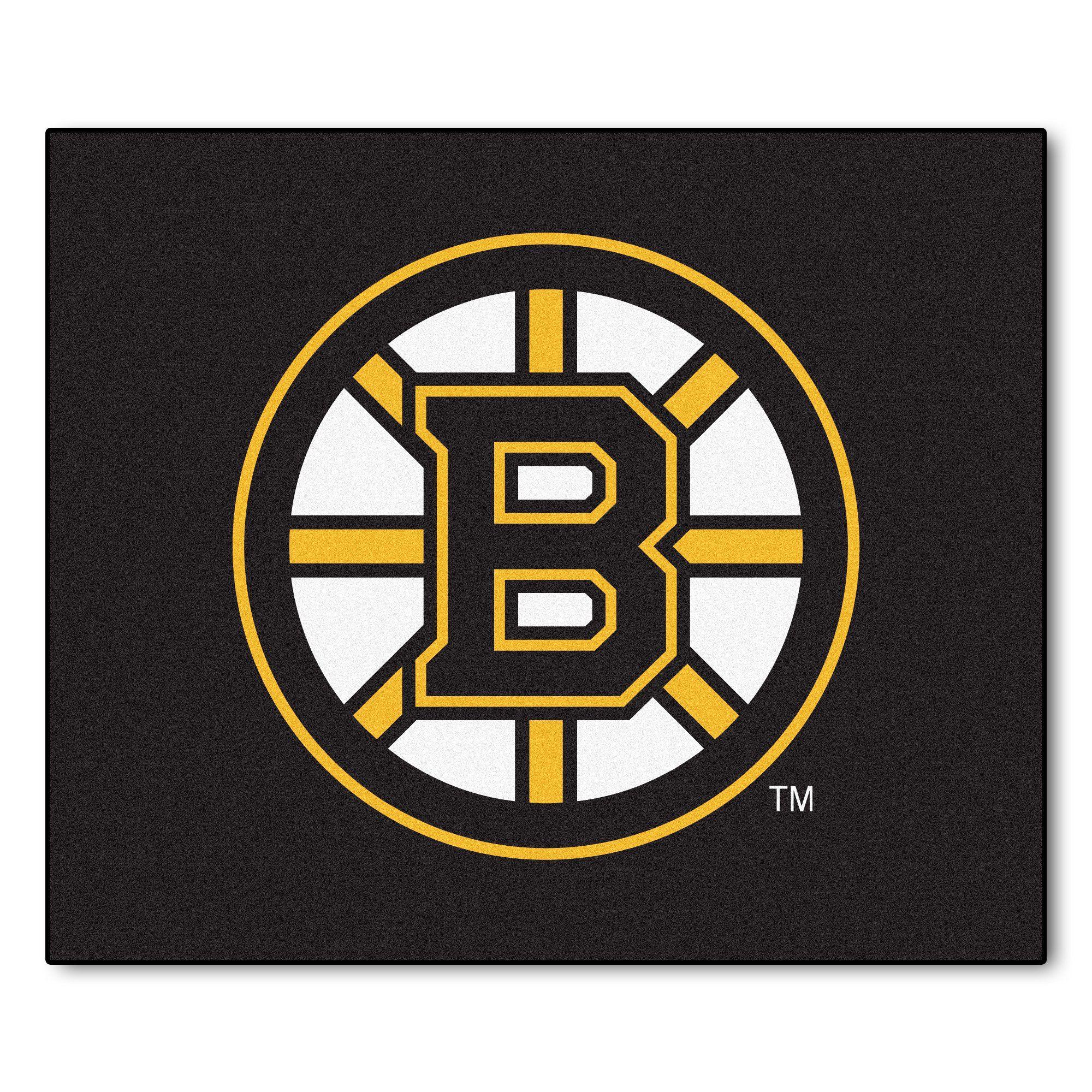 Nhl Boston Bruins Tailgater Rug 5 X6 Boston Bruins Logo