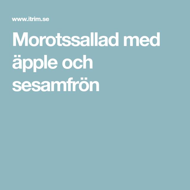 morotssallad med äpple