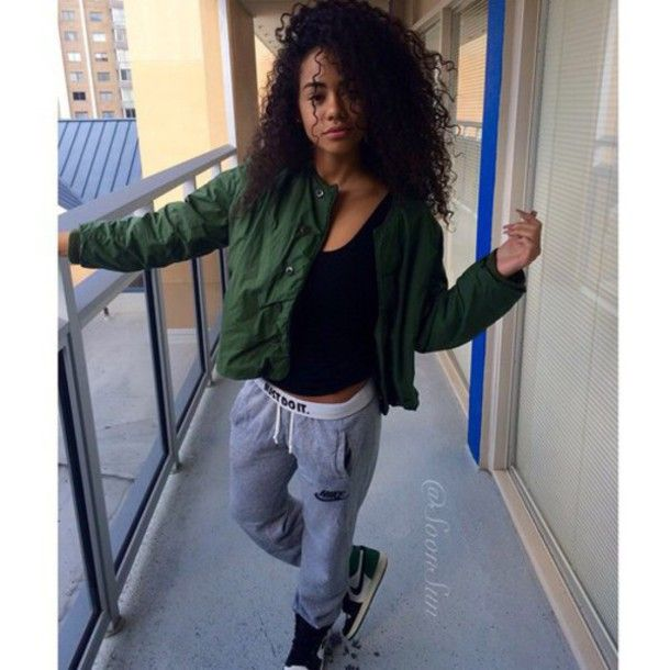 jacket pants urban green olive green nike nike sweatpants air jordan air  jordan 1 curly hair