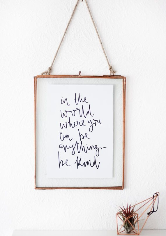 Hand lettered print a inspirational quote by creativefeel