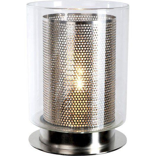 Lampe Tactile Fuzo Corep Verre Transparent 40w Lampe Tactile Lampe Salon Lampe De Chevet