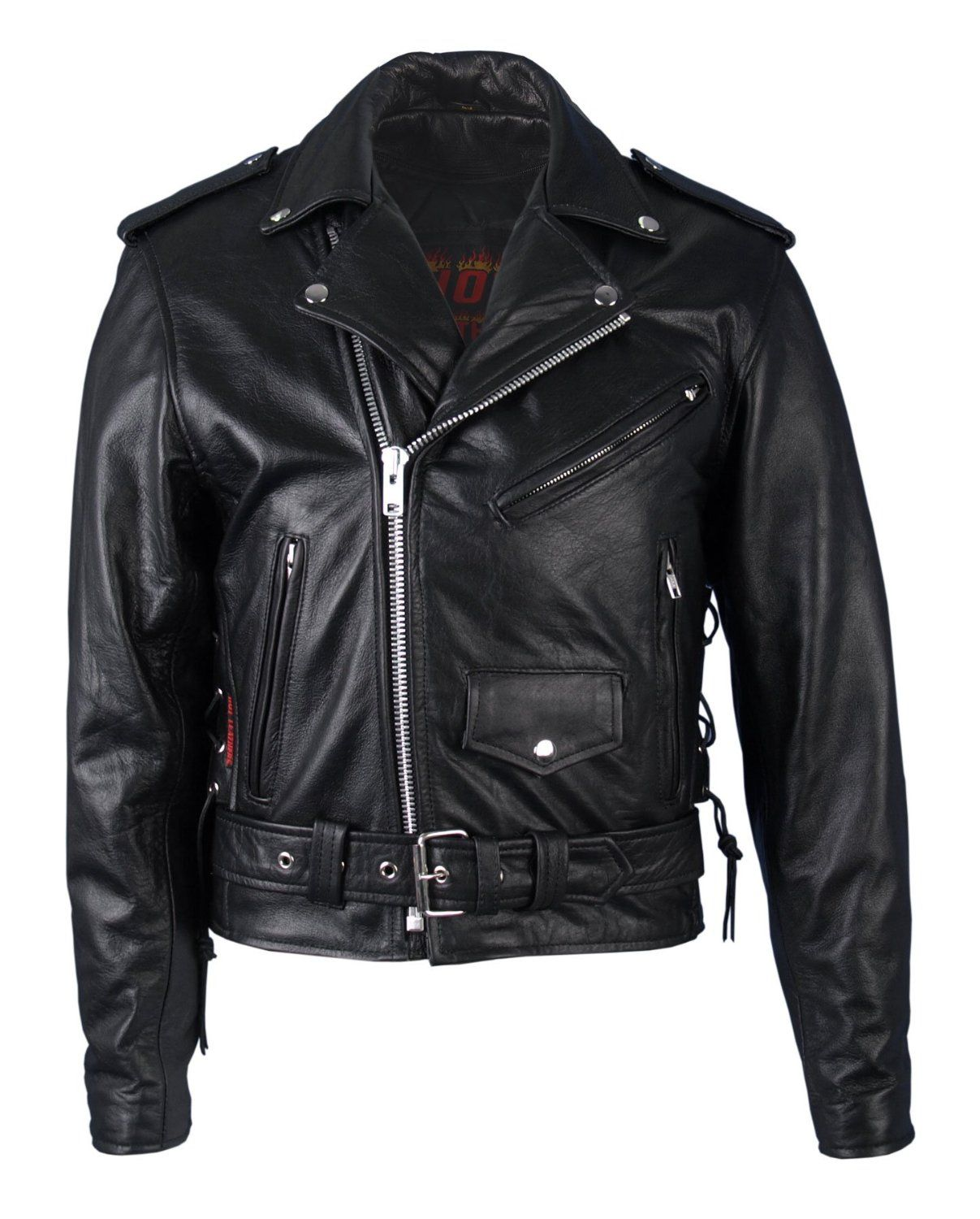 Amazon.com: Hot Leathers Classic Motorcycle Jacket with Zip Out ...
