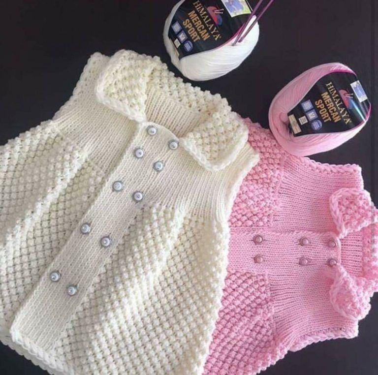 Aufsteckspindel stricken Baby Mädchen Kleid machen   – bebek örgüleri
