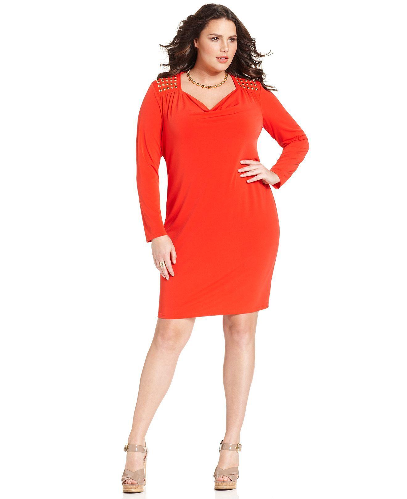 Michael Kors Plus Size Dresses At Macys