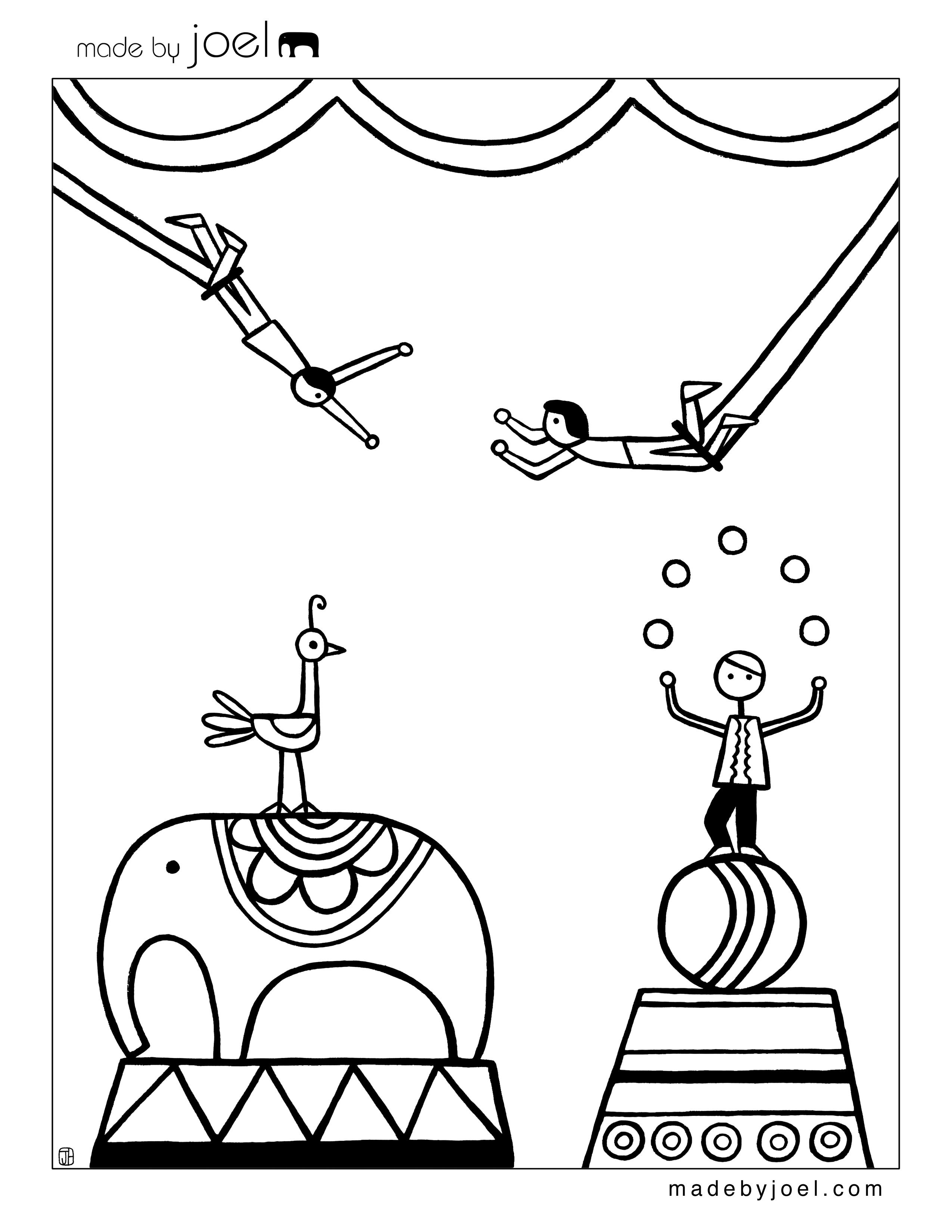 New Circus Coloring Sheets Made By Joel