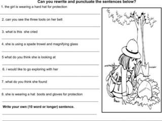 Worksheet Kindergarten Punctuation Worksheets 1000 images about punctuation on pinterest activities frogs and student