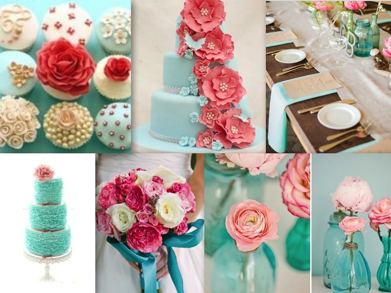 d93718f5e308d pink, grey, and turqouise wedding | Fabulous Friday: Turquoise Wedding  Inspirations