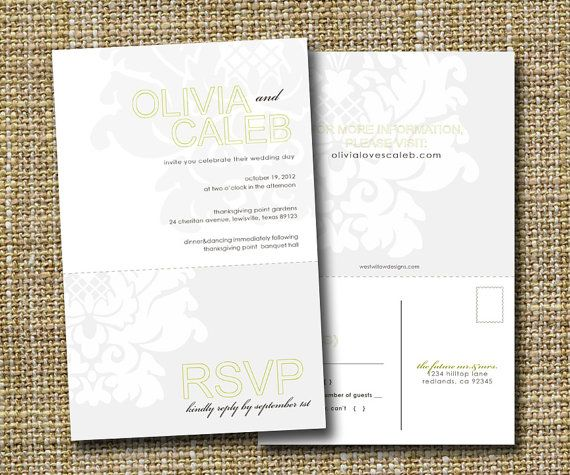 Perforated Wedding Invitation With Tear