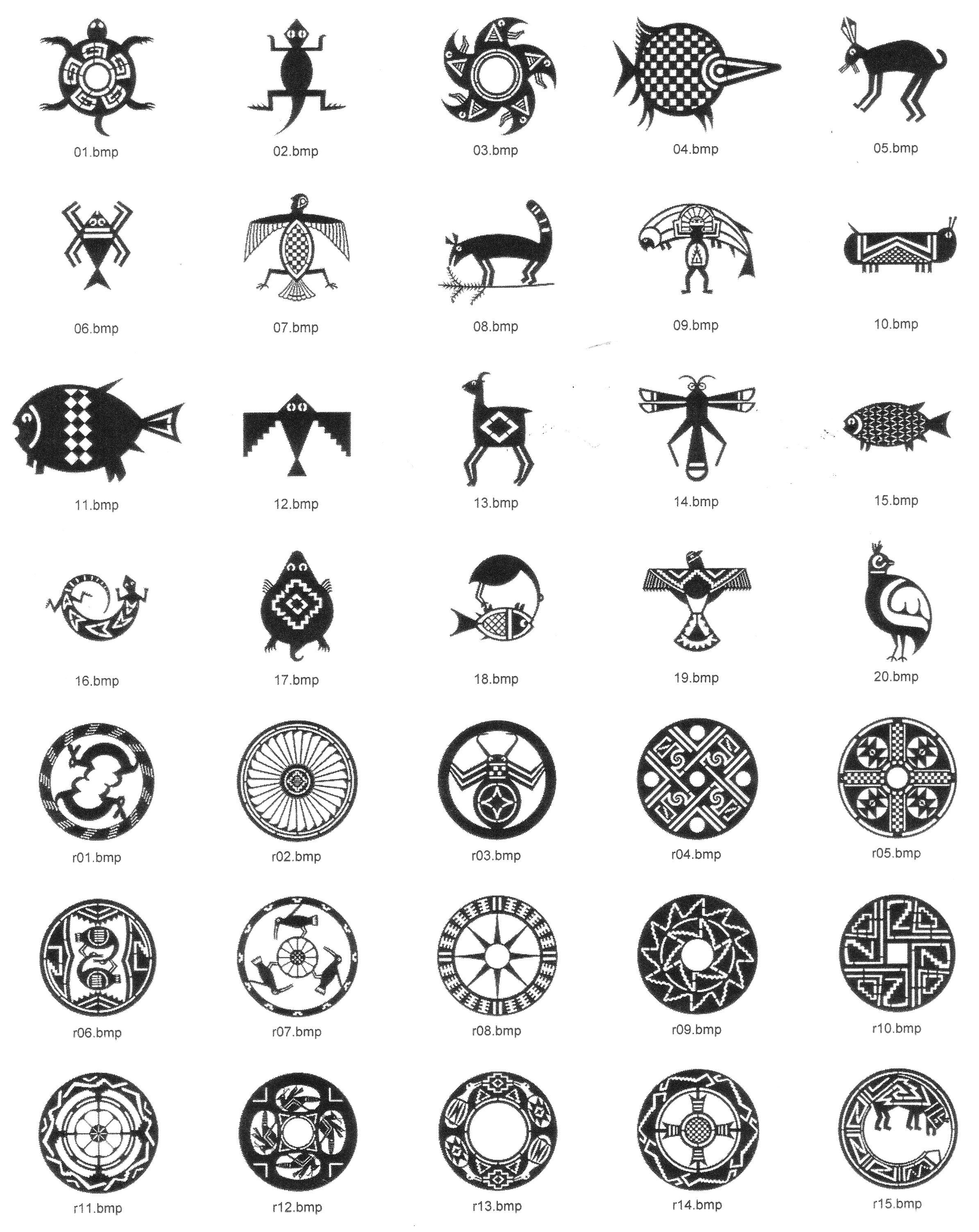 Colombian Tribal Tattoo : colombian, tribal, tattoo, Mimbres, Native, American, Tattoo, Designs,, Tattoo,, Colombian