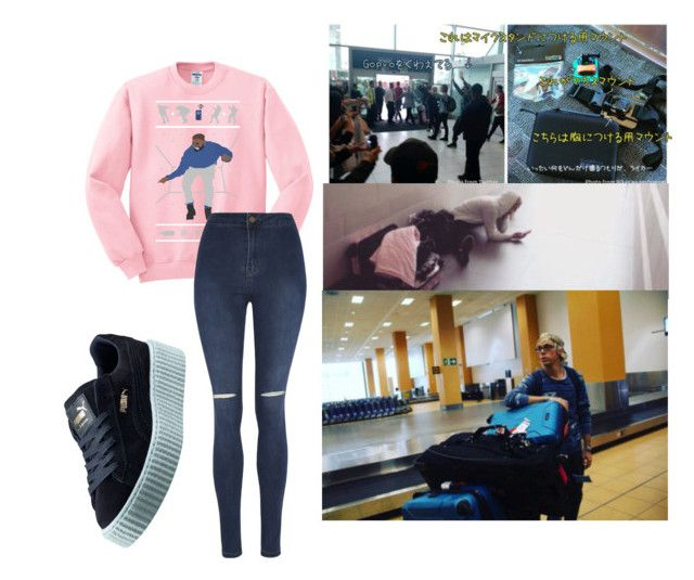 """""""Airports for dayyzzz"""" by wont-stop-loving-queen-rydel ❤ liked on Polyvore featuring moda, George y Puma"""