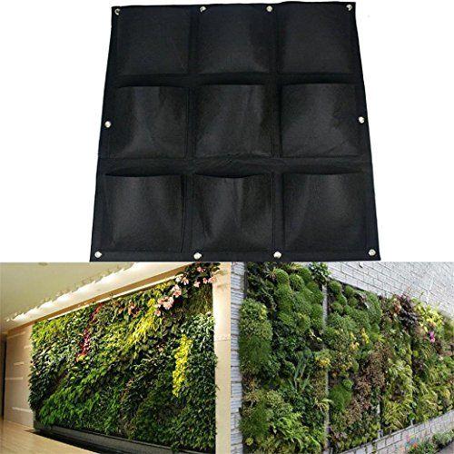 AMARS 9 Pockets Vertical Garden Hanging Wall Planter