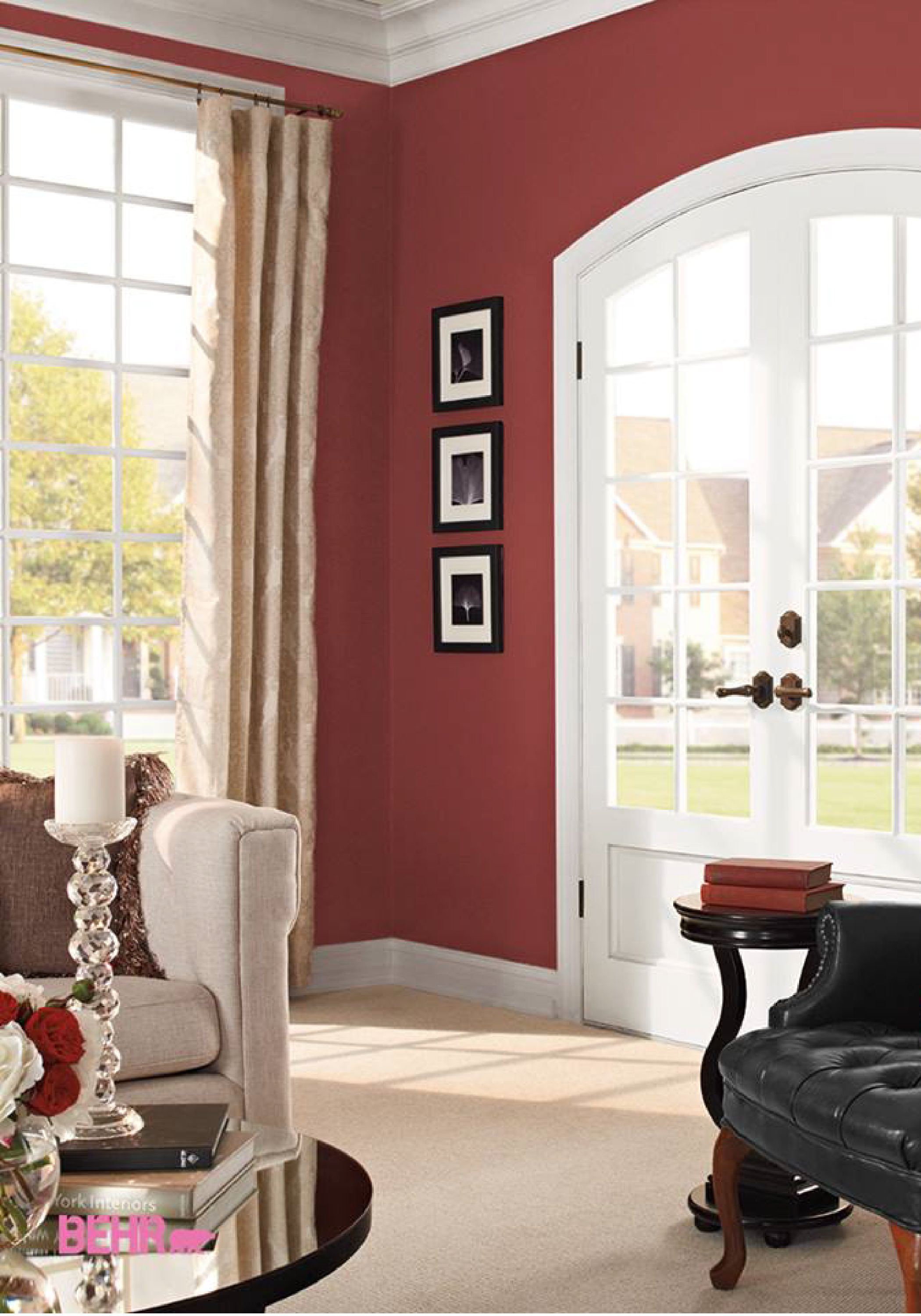 Red Painted Room Design Inspiration And Project Idea Gallery Behr Paint Colors For Living Room Living Room Colors Living Room Paint #red #paint #colors #for #living #room