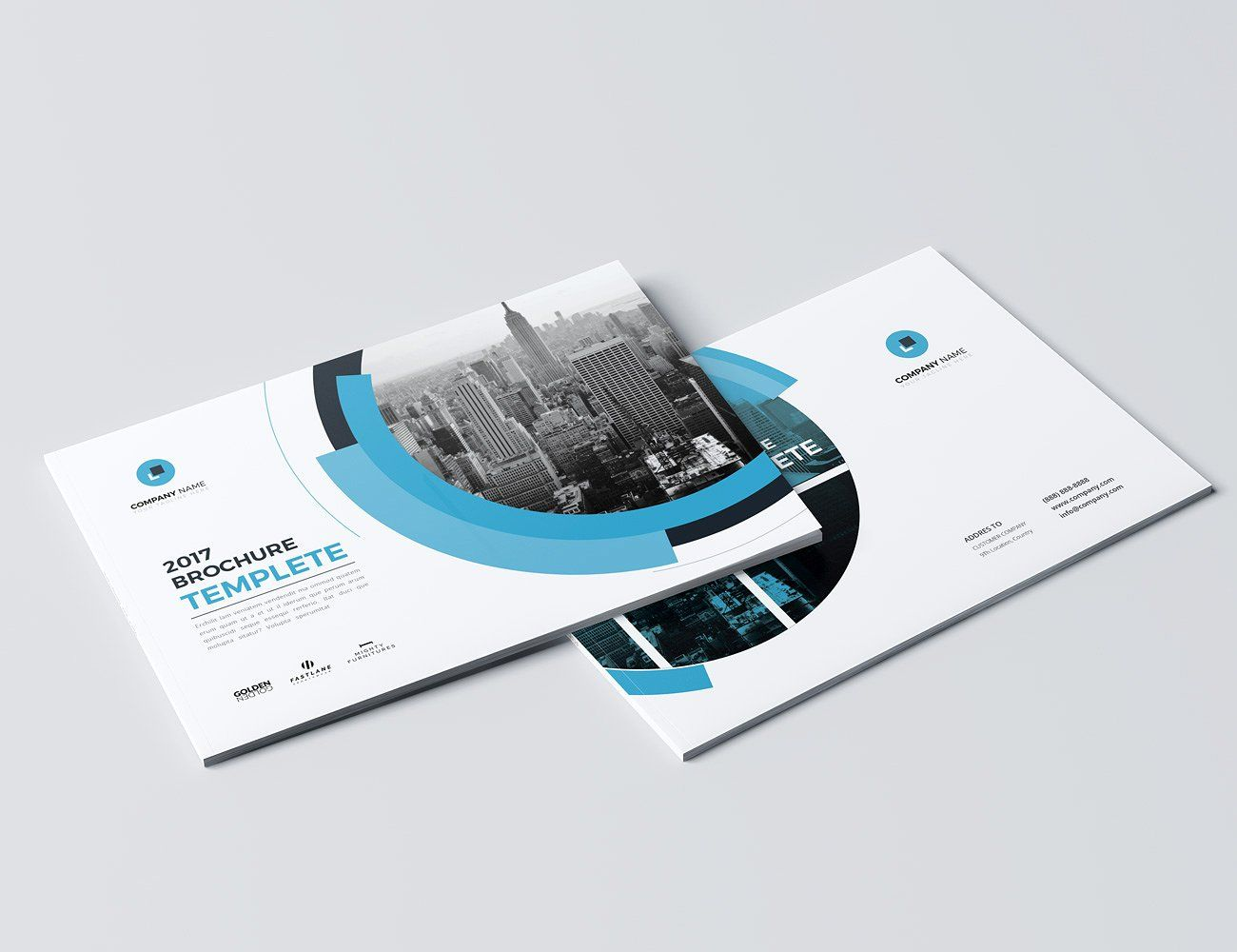 A5 Landscape Co Brochure Brochure Brochure Template Company Profile